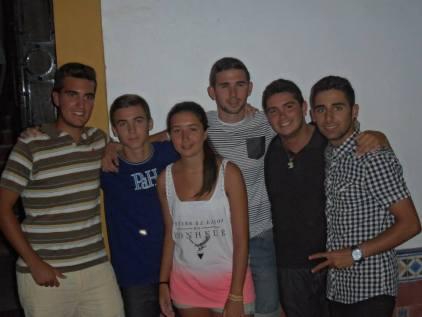 Algunos de los confirmandos, verano 2013, casa de Jerez.